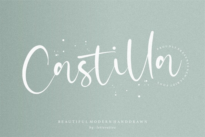 Castilla Beautiful Modern Handdrawn Font