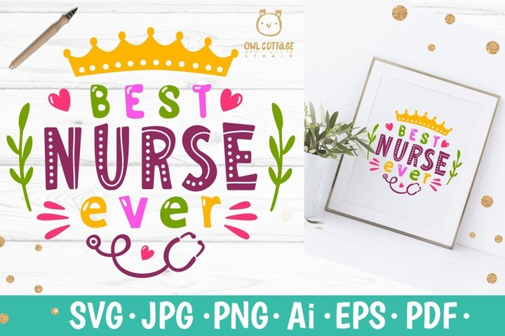 Best Nurse ever SVG, Best Nurse Floral SVG, Nurse Tattoo, sv