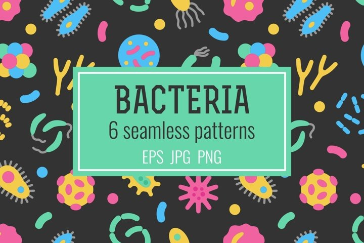 Bacteria and virus seamless patterns