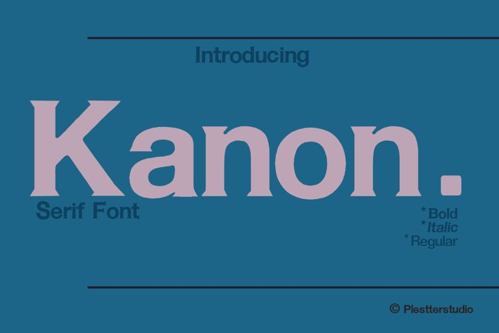 Kanon - Serif Font