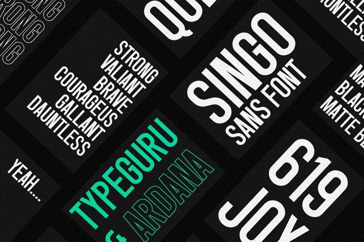 Singo - Sans Display Font example 10