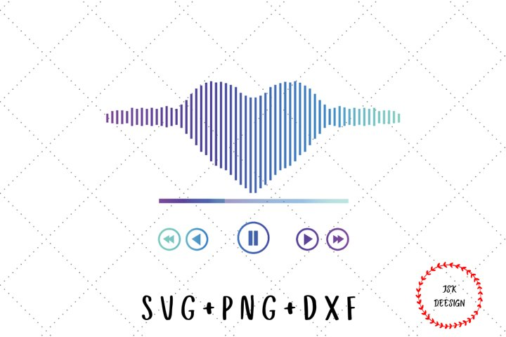 Valentine cardioid music player SVG, Music Player SVG