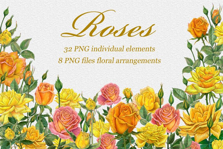 Yellow Roses PNG Clipart