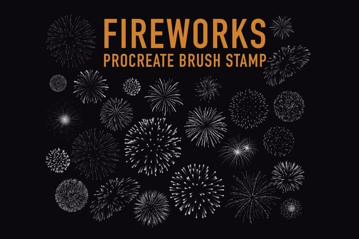 Fireworks Stamps Brushes for Procreate on ipad