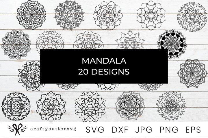 Mandala Bundle SVG Files, Printable Clipart, Mandala drawing
