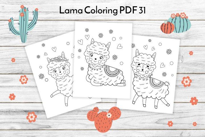 Llama Coloring Pages PDF 31