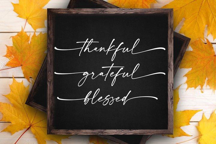 Thanksgiving svg Thankful Grateful Blessed svg