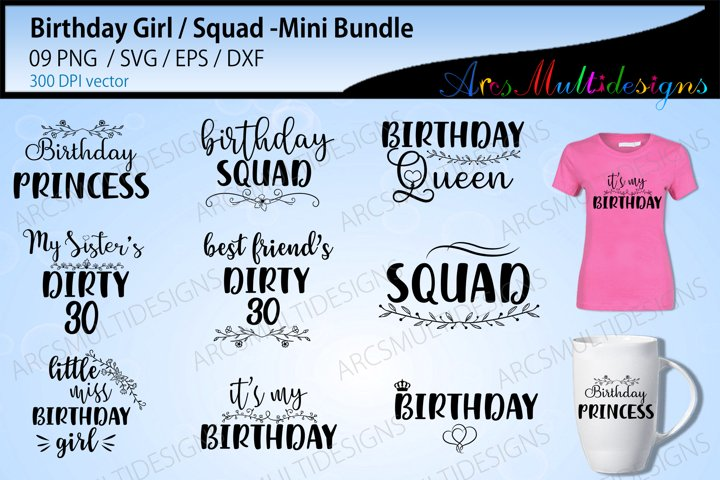 Birthday girl Cut files / Birthday girl svg cut files bundle