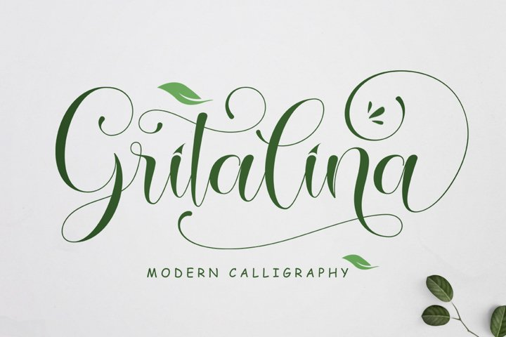 Gritalina Modern Calligraphy