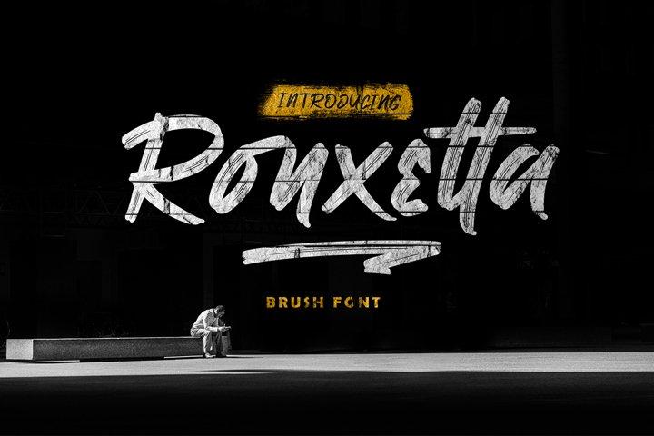 Ronxetta   BRUSH FONT