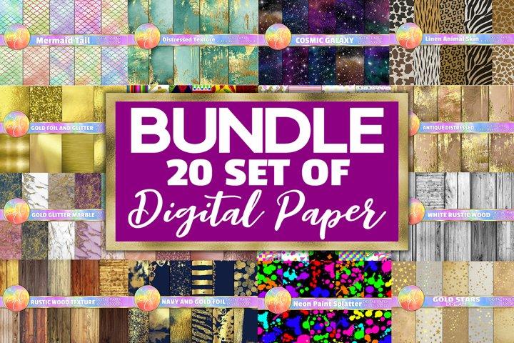 BUNDLE Digital Paper, 20 SET, Each set per $1 dollar