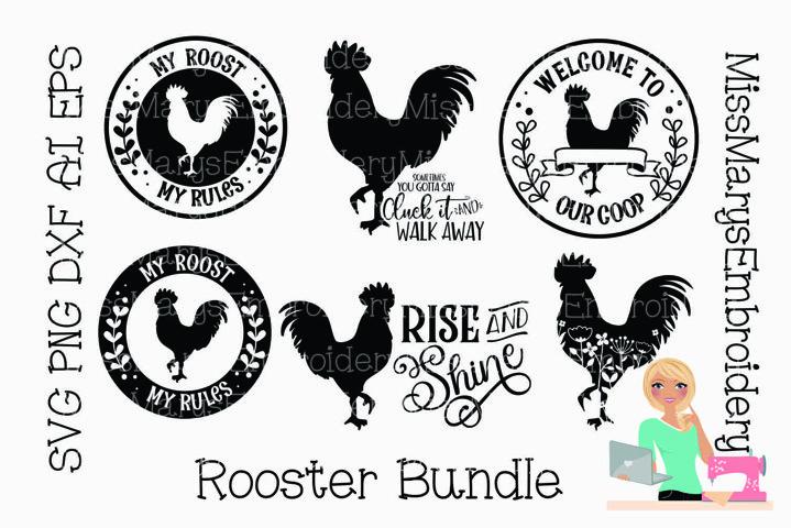 Rooster SVG Bundle   Rooster SVG  Farmhouse SVG   SVG Bundle