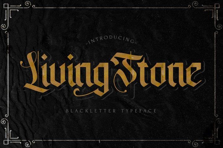 Livingstone - Blackletter Decorative Font
