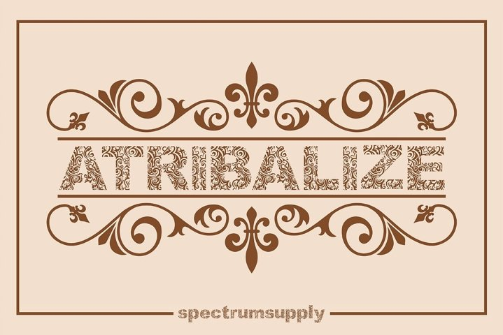 Atribalize Typeface With Illustrator And Border