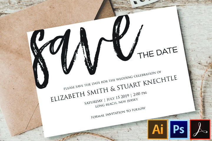 Save The Date Template - Editable Save The Date - Printable
