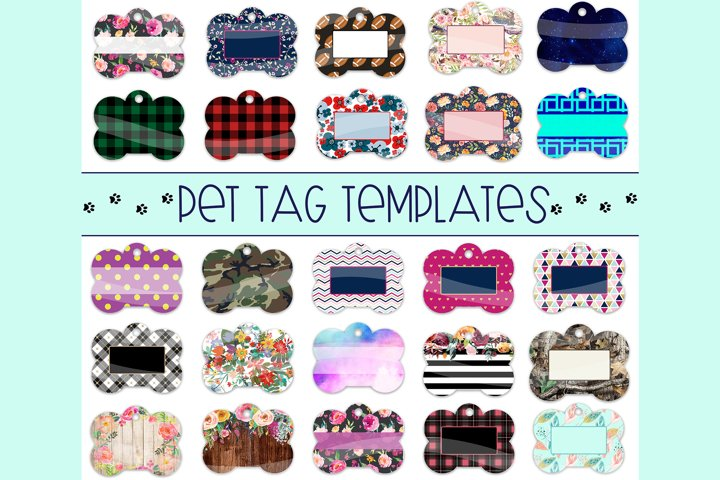 Pet Tag Sublimation Templates