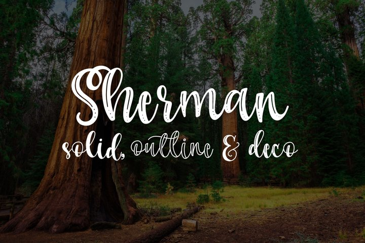 Sherman Trio - Free Font of The Week Font