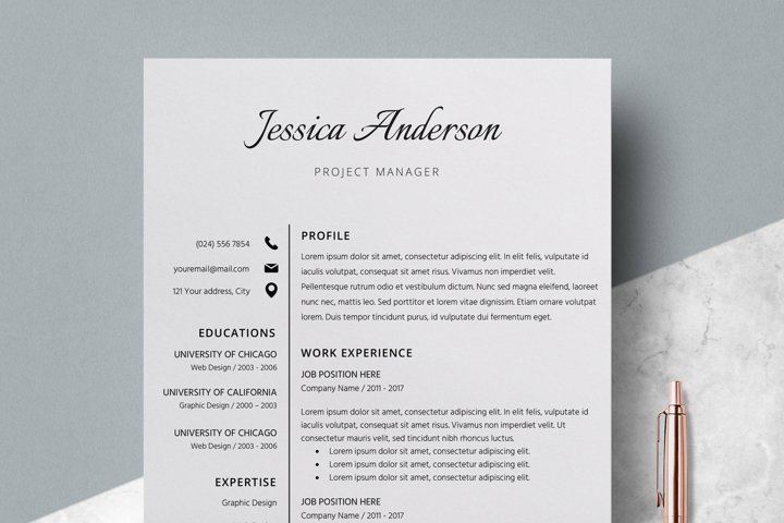 Resume Template | CV Cover Letter - Jessica Anderson