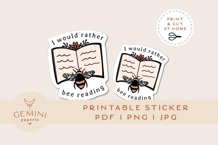 Print and Cut Bee Sticker   Printable Vinyl Sticker Cricut