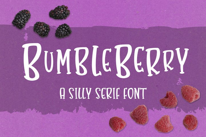 Bumbleberry - a silly serif font