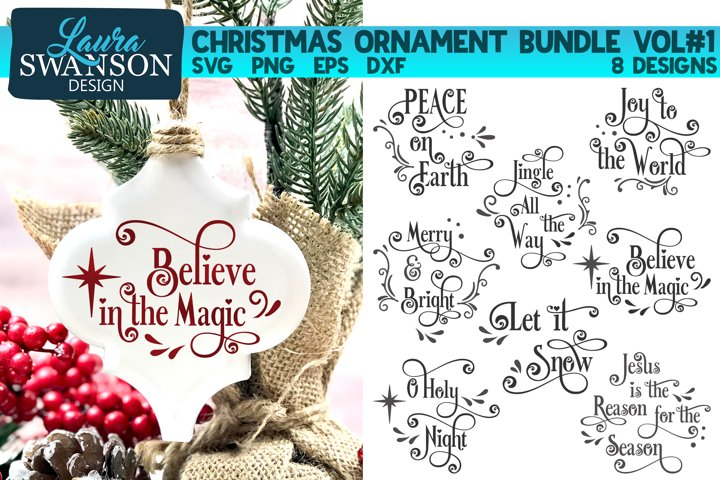 Christmas Ornament Bundle Vol#1 | Christmas SVG Bundle