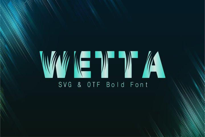 Wetta Regular Font