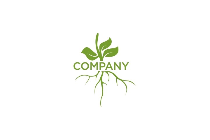 Root and leaf shoots logo