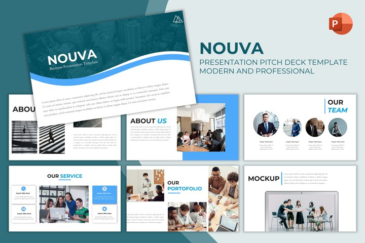 Pitch Deck Powerpoint Template - Nouva