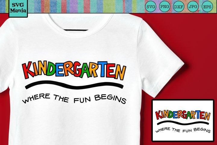 KINDERGARTEN SVG FILE, Kindergarten Shirt SVG, SVG File