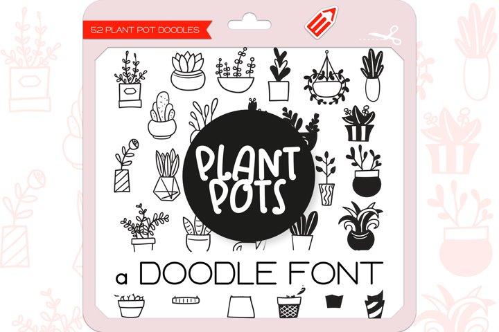 Plant Pot Doodles - Dingbats Font
