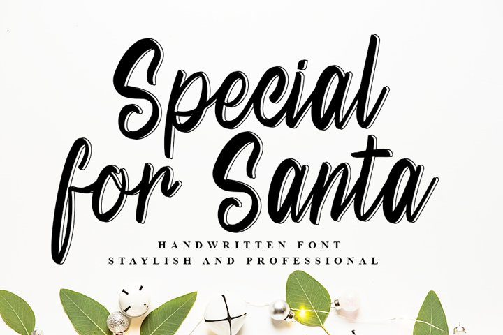 Special For Santa | Beautiful Handwritten Font