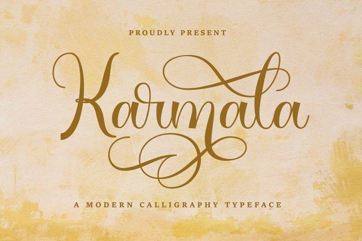 Karmala Font - Modern Calligraphy