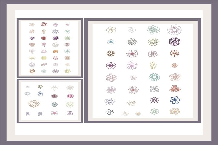 Flower Design Embroidery Machine Patterns for 4 x 4 Hoop