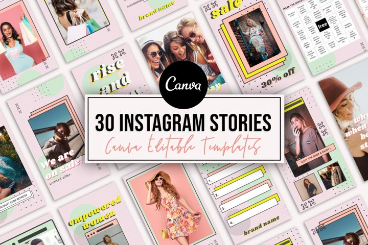 30 Instagram Story Templates in Canva , Instagram Template