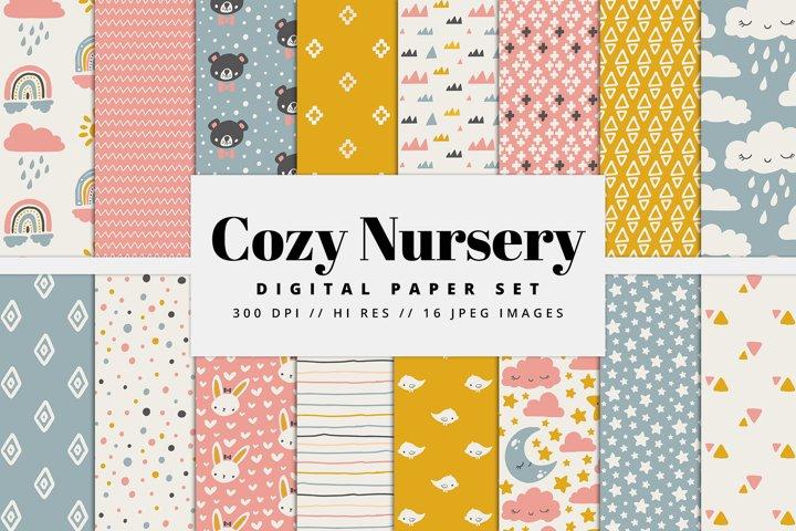 Cozy Nursery Digital Paper Set