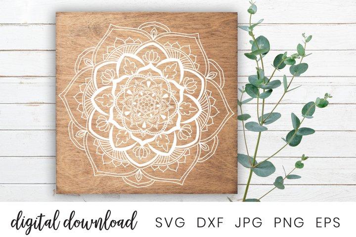 Flower Hearts Mandala SVG File | Printable Clipart