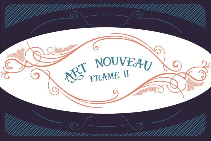 Art Nouveau Frame II SVG cut file