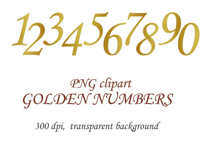 Gold textured shiny glitter numbers PNG Clipart