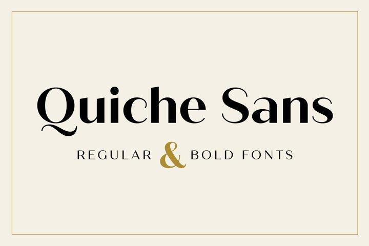 Quiche Sans Regular and Bold Fonts