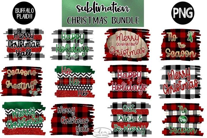 Christmas Sublimation Designs Bundle, Plaid Sublimation file