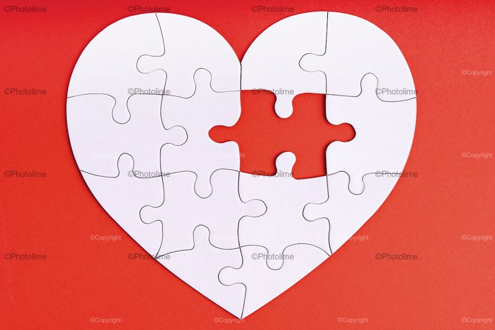 Love, charity, donation, helping concept. Missing piece of j