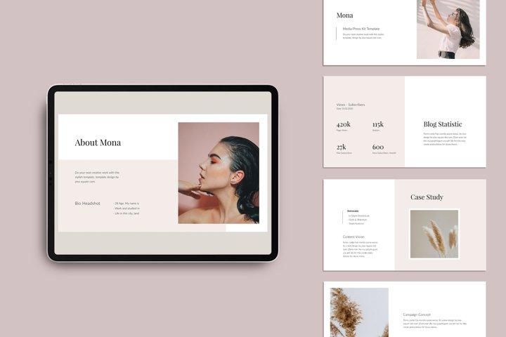 MONA - Media/Press Kit Powerpoint Template