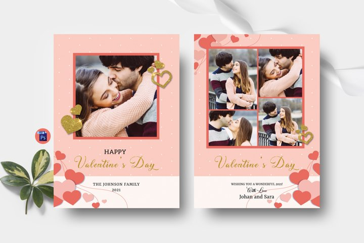 Valentines Day Photo Card Template