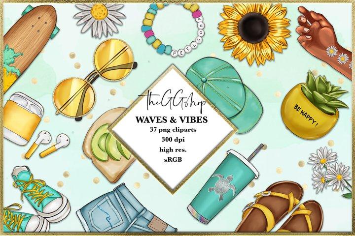 Summer Beach Cliparts set