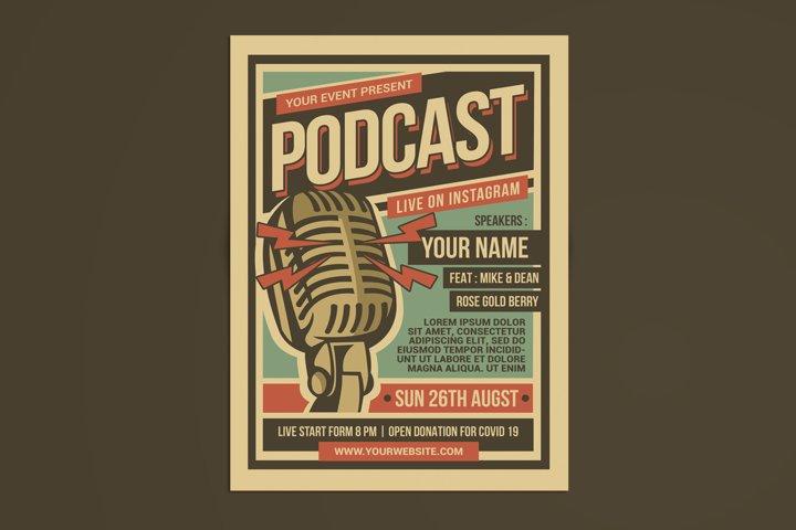 Podcast Retro Event Flyer