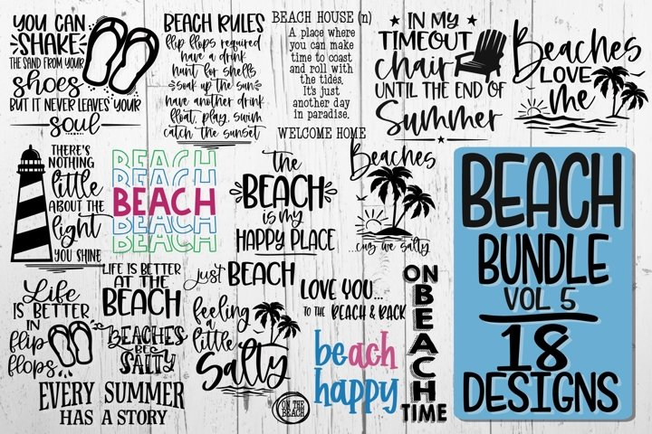 BEACH BUNDLE - 18 DESIGNS -INTRO PRICE- VOL 5