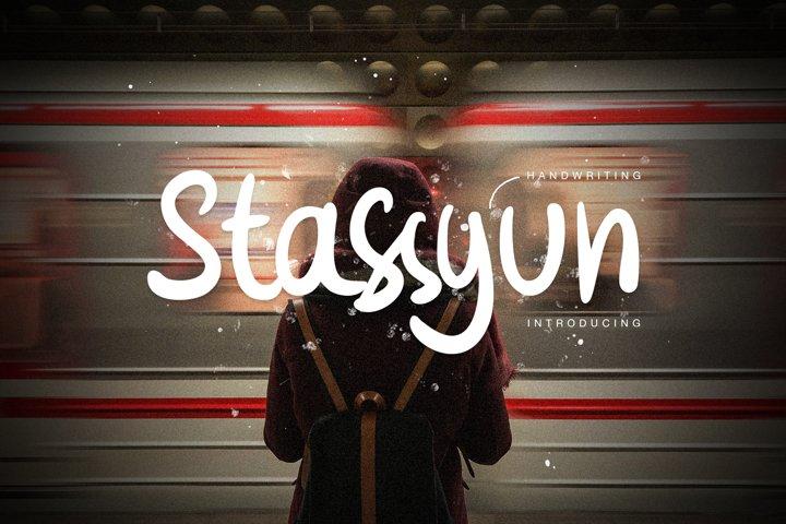 Stassyun Handwriting Font