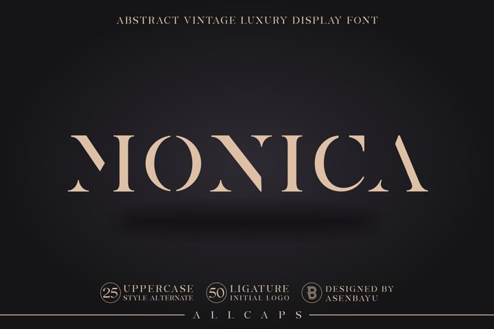 MONICA - Abstract Vintage Display Font