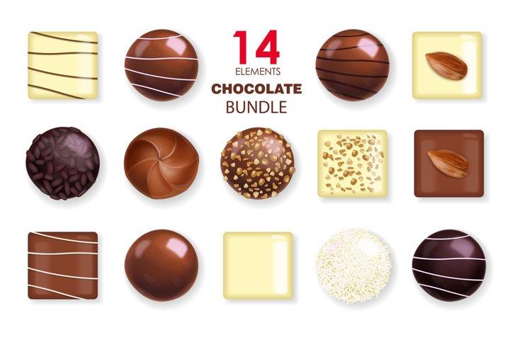 Realistic chocolate vector