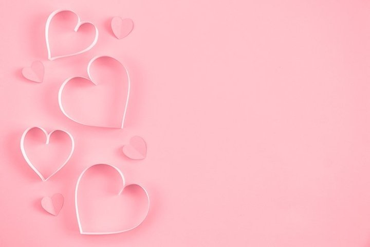 Heart on pastel pink background. Valentines Day.